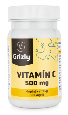 GRIZLY Witamina C 500 mg 90 tablet